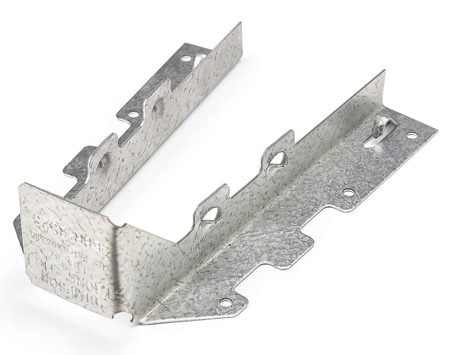 <b>Photo 1: Triple-zinc</b></br> Install triple-zinc deck hardware with hot-dipped galvanized fasteners.