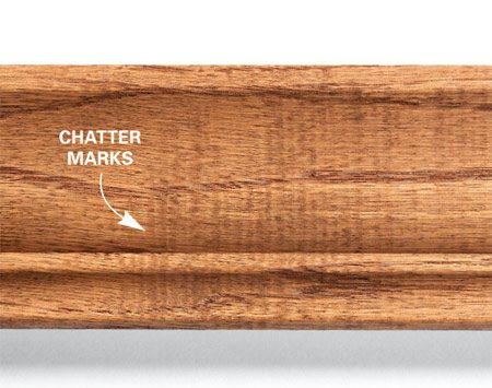 <b>Photo 2: Chatter marks</b></br> Excessive chatter marks and other flaws mean lots of time-consuming sanding.