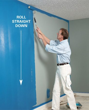 <b>Photo 3: Roll down</b></br> Roll back down over the same area.