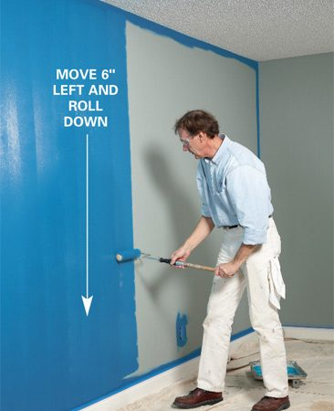 <b>Photo 5: Roll down</b></br> Shift back 6 inches and roll back down.