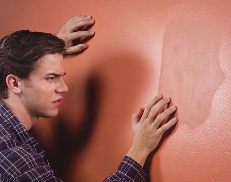 <b>Repair not primed</b></br> A drywall primer-sealer seals the porous surface so paint won't sink in and look dull or blotchy.