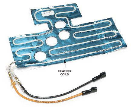 <b>Garage kit heating coil</b></br> Find the model number of your refrigerator and contact the manufacturer's parts department to see if it offers a garage kit for your unit.