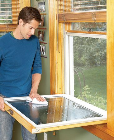 <b>New window benefit</b></br> Low-maintenance exteriors on new windows eliminate the painting chore and allow cleaning from the inside. Nice!