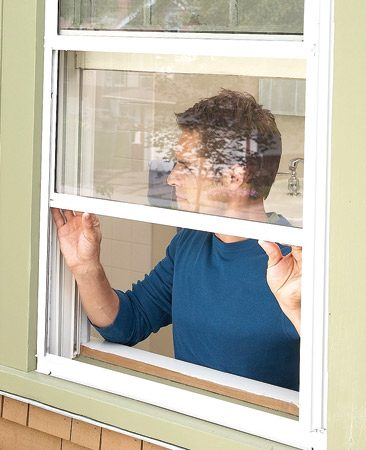 <b>Storm window option</b></br> Tight-fitting storm windows will reduce drafts from leaky double-hung or sliding windows.