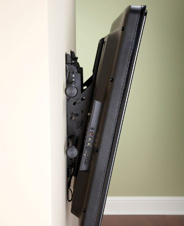 <b>More adjustability</b></br> <p>Tilting mounts ($50 to $200)   let you mount the TV above   eye level or tweak the angle   to suit the situation—something   you may want to do if   you're watching TV from the   floor one day and the sofa the   next. </p>