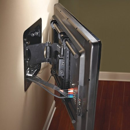 <b>Most versatile option</b></br> <p>Full-motion mounts ($100 to   $500) allow you to tilt, swivel,   pan and extend the TV. That   means you can pull the TV away   from the wall and turn it to the   left or right, to face the viewer. </p>