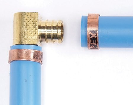 <b>How they work</b></br> Crimp rings compress slightly to seal the PEX.