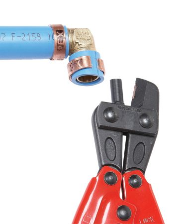 <b>Crimp cutter tool</b></br> A crimp cutter lets you remove crimp rings without damaging the fitting.