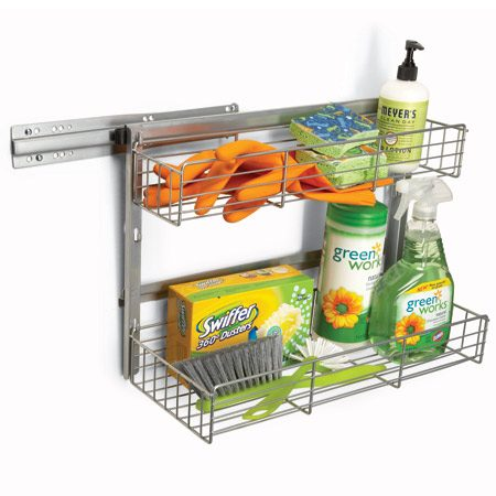 <b>Medium-weight</b></br> IKEA's Rationell Variera pullout basket (out $20; <a href='http://www.ikea.com' target='_blank'>ikea.com</a>) works well for medium-weight items.