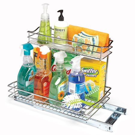 <b>Heavy-weight</b></br> The Lynk Rollout Undersink Drawer (about $65 at home centers) can take heavy use.