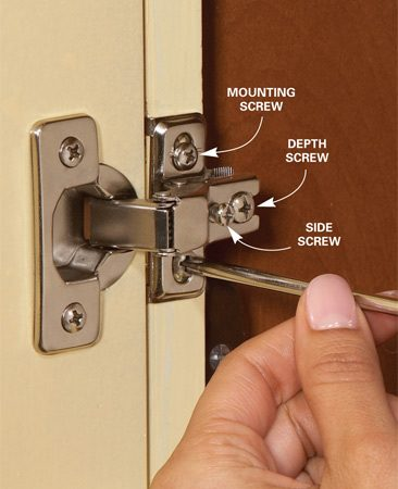 how to adjust cabinet hinges that won't close 2