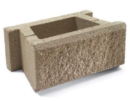 <b>Hollow-core blocks</b></br> Hollow-core blocks are about half the weight of their solid counterparts and much easier on the back. After you set each course, you fill the cores with gravel, making the wall every bit as strong as a solid block wall. You have to order special blocks for corners and caps.