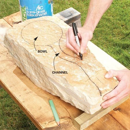 how to lay a concrete circle