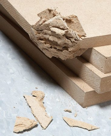 <b>Avoid rough handling</b></br> <p>The face of MDF is harder than most   woods, but the inner layers are soft. So   edges, and especially corners, are easy   to crush. That means you have to handle   it with more care than lumber or   plywood. Also, avoid scratching the   face. Light scratches stand out like a   sore thumb on the ultra-smooth surface,   so you have to sand them out   completely before priming. And wear   gloves when handling MDF, especially   when carrying heavy sheets. MDF   edges can be sharp enough to cut skin—I've got the scars to prove it. </p>