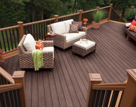 <b>Fine decking details</b></br> More expensive composites brands have finer details, more colors and more features.