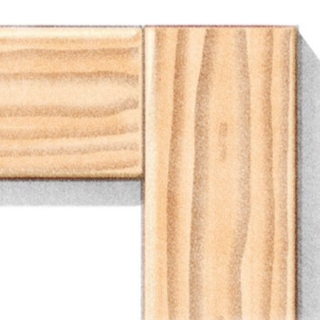 <b>Butt joint</b></br> Butt joints may open up a bit, but they still look better than miters.