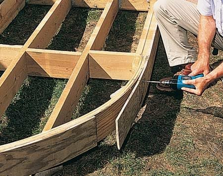 How to build the deck of your dreams the family handyman for Circular garden decking