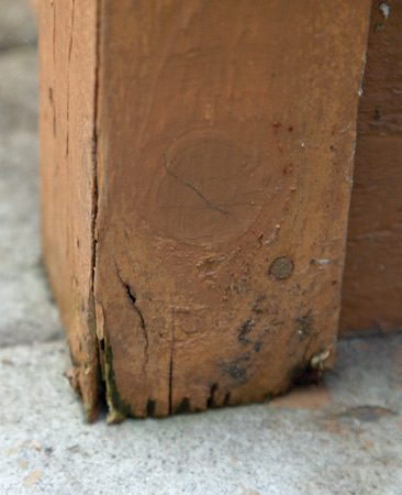 Rot in cedar corner boards
