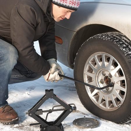 <b>Tip for tire changes</b></br> Break the lug nuts loose before you jack up the vehicle. Once the spare is in place, spin on the lug nuts and tighten them partially. Then lower the vehicle and perform a final tightening. Drive to the nearest service station and check the air pressure in the spare (it's often low).