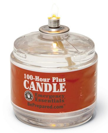 <b>Long-burning candle</b></br> A little light but it lasts a long time.