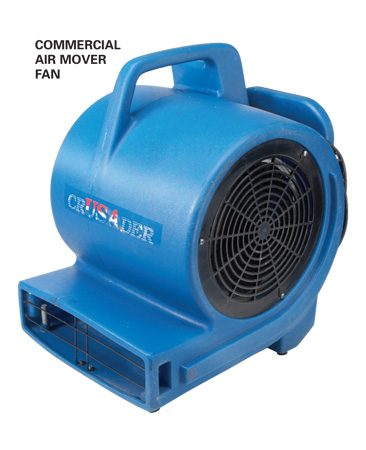 <b>Air mover</b></br> Rent a commercial dehumidifier and air mover fan ASAP. Position the machines on opposite sides of the room to pick up and remove most of the moisture.