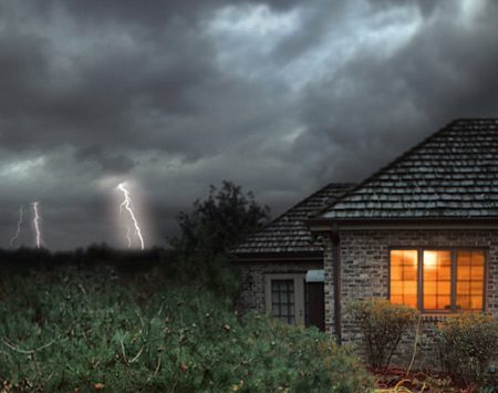 <b>Electrical storm</b></br> Unplug sensitive electronics to protect them from power surges.