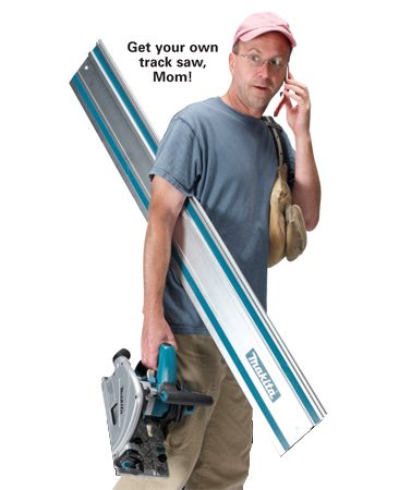 <b>Easy to move</b></br> You can carry a track saw under one arm.