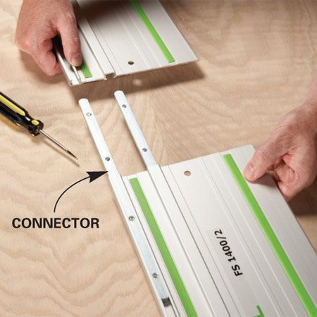 <b>Long cut potential</b></br> With connectors you can make super long cuts.
