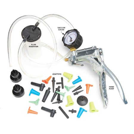 <b>Kit components</b></br> This multi-use vacuum kit contains parts for many tests and operations.