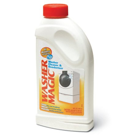 <b>Photo 3: Cleaning solution</b></br> Run a cycle with a washer cleaner to solve the problem.
