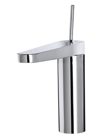 <b>IKEA OXSKAR kitchen faucet</b></br> IKEA'S OXSKAR single-lever kitchen faucet is a study in ultra modern, easy-to-use design. Available in chrome-plated brass, it's IKEA's priciest faucet. Simplicity doesn't always come cheap. Visit <a href='http://www.ikea.com'>ikea.com</a>.