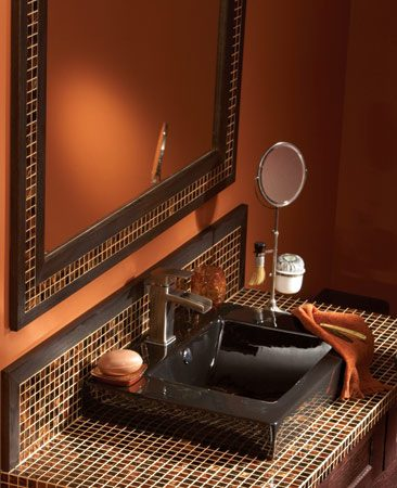 Glass tile mirror