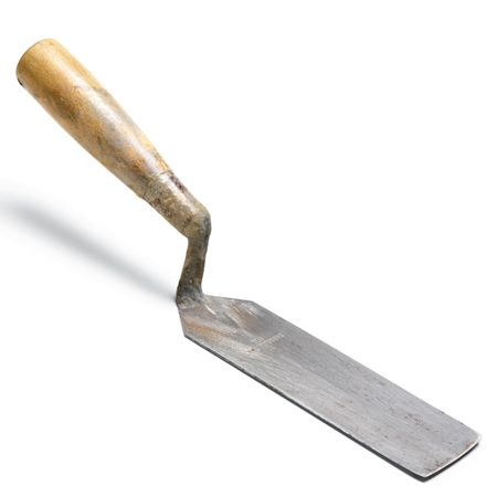 <b>Margin trowel</b></br> <p>Tile setters use a margin  trowel for everything: prying   up sunken tiles, nudging  crooked ones, cleaning out   grout lines, mixing up  small batches of thin-set or   grout, scooping mix out  of the bucket and scraping up   messes. Makes a great  back scratcher, too. If you're setting   tile,  you've got to have one (sold at home centers). </p>