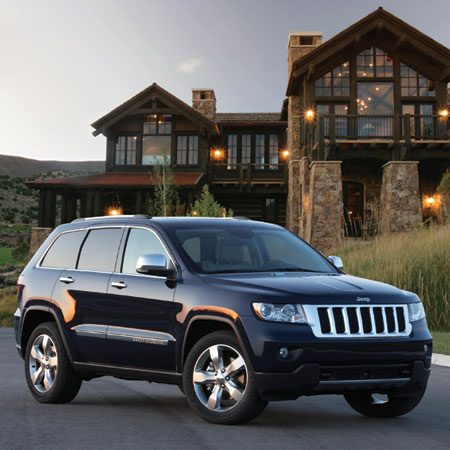 <b>2011 Jeep Grand Cherokee</b><br/>Run this baby on the highway or the backroads&mdash;the uni-body construction can handle it all. Plus, you get better gas mileage than previous models.