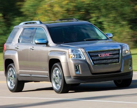 <b>2011 GMC Terrain SUV</b></br> Get a super quiet ride in the 2011 GMC Terrain using active noise control