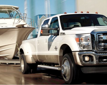 <b>Tow really heavy rigs with the Ford Super Duty Pickup and tow up to a whopping 24,400 lbs. (with fifth-wheel trailer),</b><br/>Choose the Ford F-450 Super Duty Pickup
