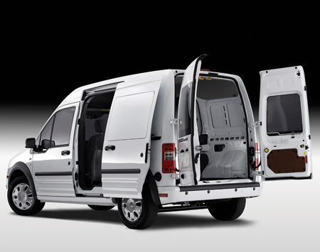 <b>Haul lots of gear</b><br/>Stuffing your gear into the Ford Transit Connect is easier than with older style cargo vans. The doors are taller and the optional wide-swing hinges let you open the doors up to 255°.