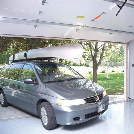 <b>Eight foot high garage door</b></br> Joe Jensen installed an 8-ft. door on his new garage so he can drive in with a load on top without worrying about taking out the garage door.