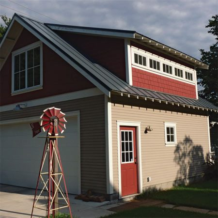 Making garage building plans the family handyman for House plans with shed dormers