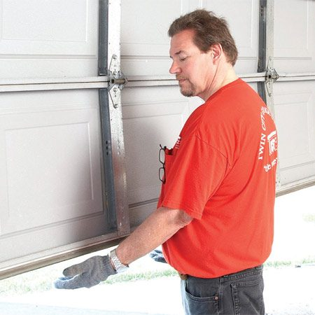 <b>Test the door balance</b><br/>Open your door halfway and let go. If the door moves up or down  on its own, the torsion spring is out of adjustment, which causes  your opener to work harder and wear out faster.