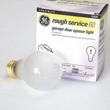 """<b>Install tough bulbs</b></br> Use """"rough service"""" bulbs and don't exceed  the wattage listed on the opener. Bulbs  that are too hot can damage the opener."""