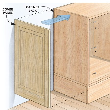 <b>Easy, attractive cover-up</b><br/>An add-on panel covers the cabinet box with minimal hassle.