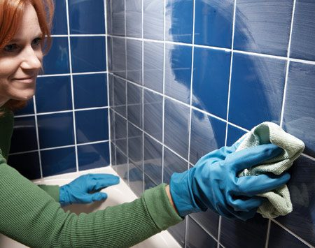 <b>Microfiber cloths remove grout haze quickly</b></br> The thousands of microscopic fabric hooks on a microfiber cloth (at discount stores) make it perfect to cut through the dried grout haze left after a tiling project. You'll still have to rinse and repeat, but the haze will clean up faster than it would with an ordinary rag.