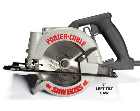 <b>Smaller saws are light and versatile</b><br/><p>If  you have a yen for an extra circular saw, consider picking   a  mini saw with a blade in the 5- to 6-in. range. You&rsquo;ll   love  it. It&rsquo;s much lighter than a standard 7-1/4-in. saw, yet   you  can still cut 1-1/2-in.-thick material at 90 degrees.   But  here&rsquo;s the big reason. On most mini saws, the blade   is  on the left side of the motor (called a &ldquo;left-tilt saw&rdquo;).   Sometimes,  this saw will fit in places where a larger saw   won&rsquo;t. </p>