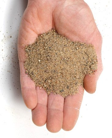 <b>Polymeric paver sand</b><br/>A polymer mixed with the sand binds it together and helps it stay put between pavers.