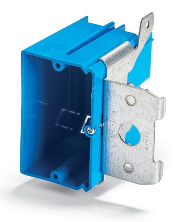 <b>Adjustable electrical box</b></br> You can move these boxes in or out to get the correct depth after installing the wall covering.