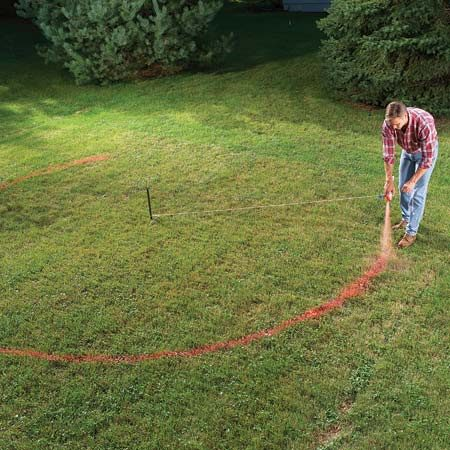 <b>Mark the bed</b></br> Mark the garden bed and make sure you're happy with the layout before you start digging.