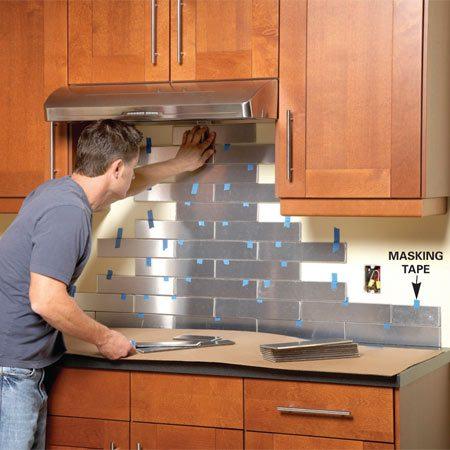 Stainless Steel Kitchen Backsplash The Family Handyman