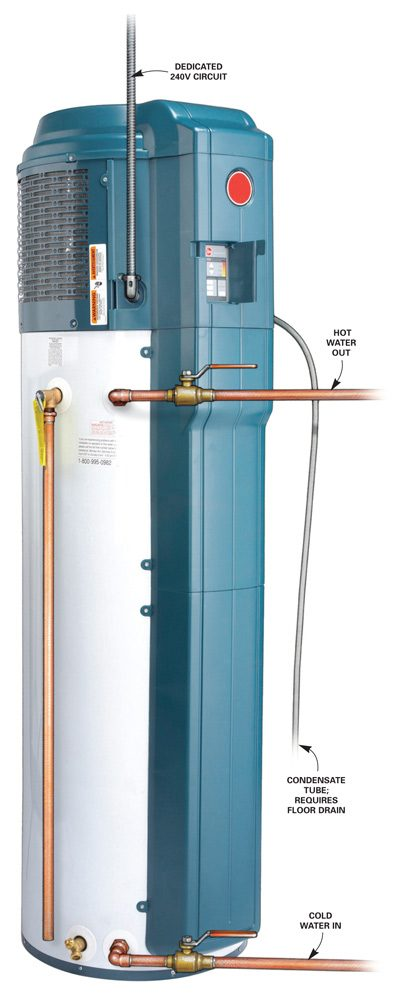 Electric heat pump combined with storage tank