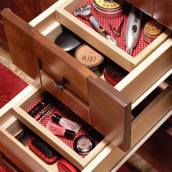 Trays inside drawers
